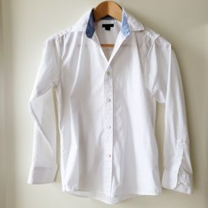 Tommy Hilfiger White Button Down Long Sleeve